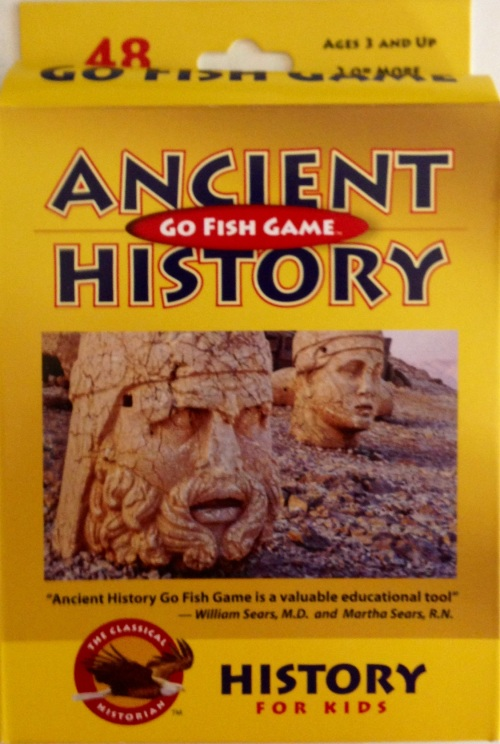 The Classical Historian Go Fish card game deck showing Ancient History category